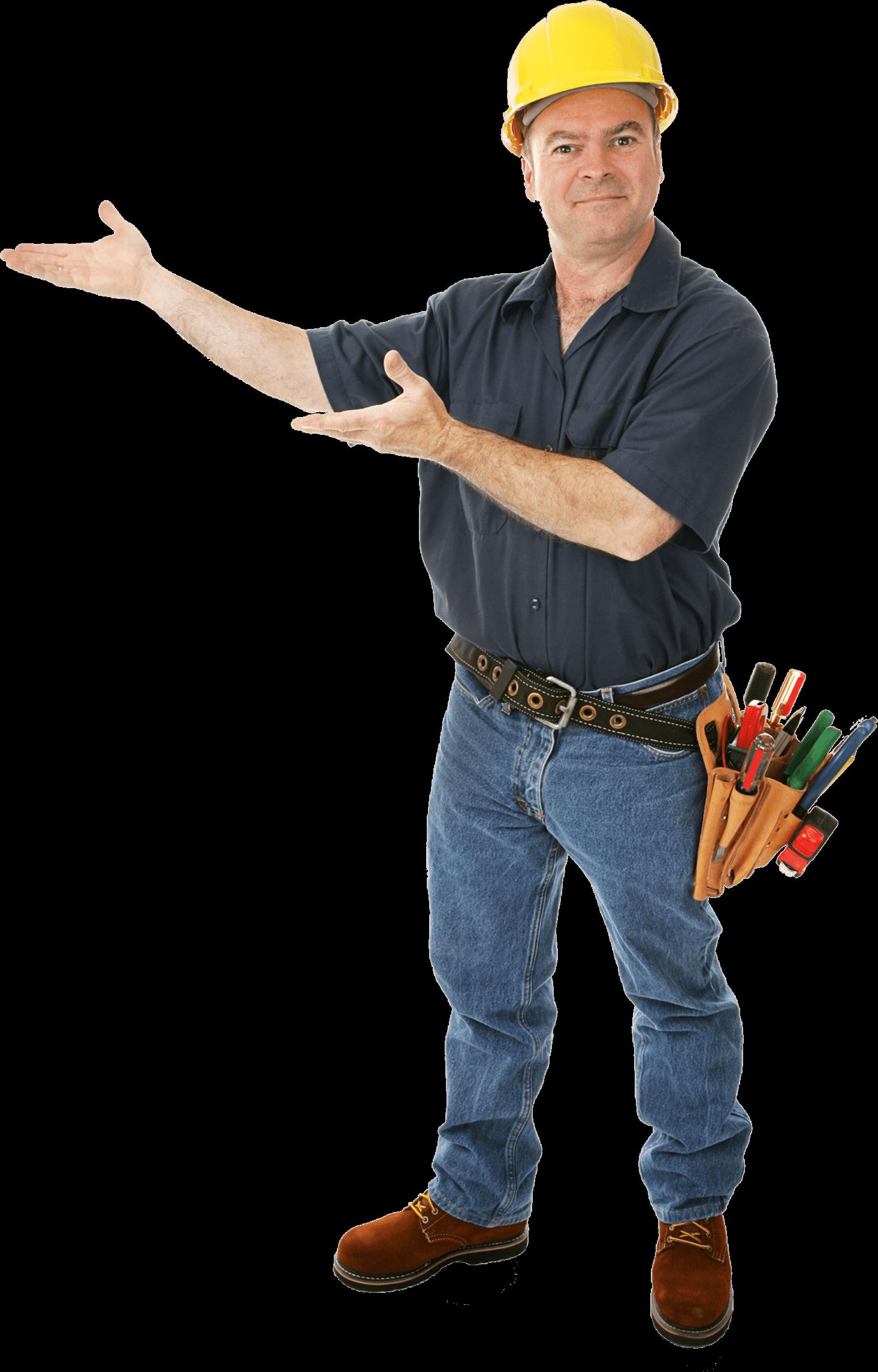 Clipart man builder. Transparent png stickpng