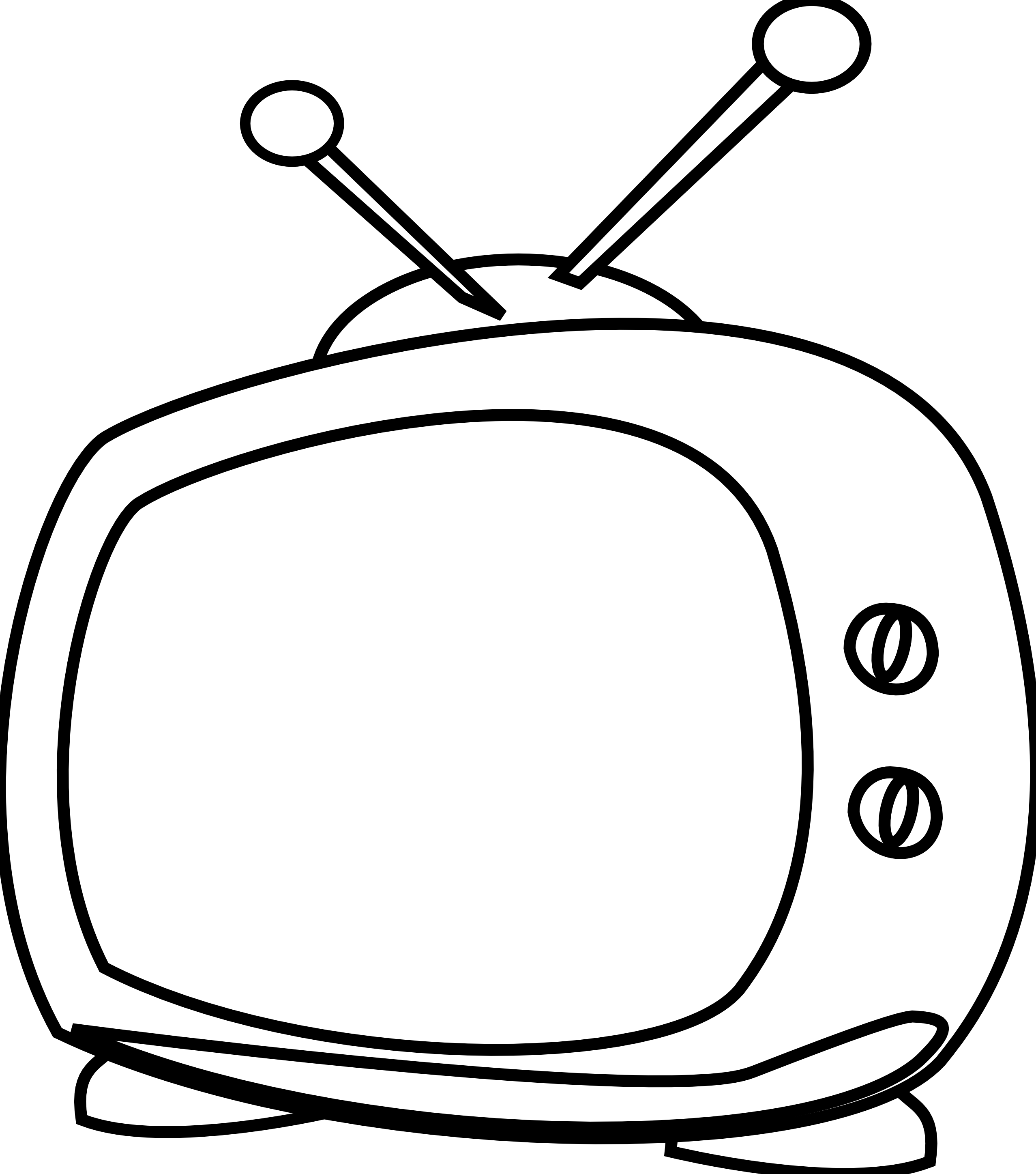 Black and white panda. Clipart tv tv radio