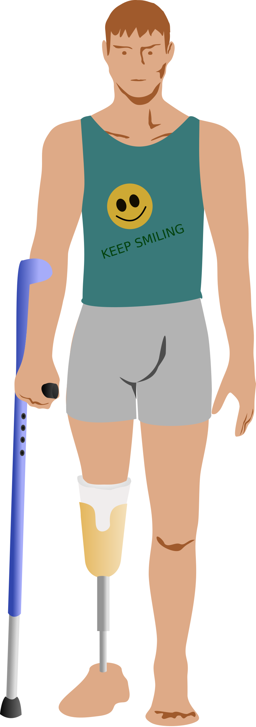Man after amputation big. Health clipart human health