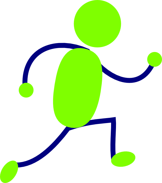 Person clipart man. Green and blue running