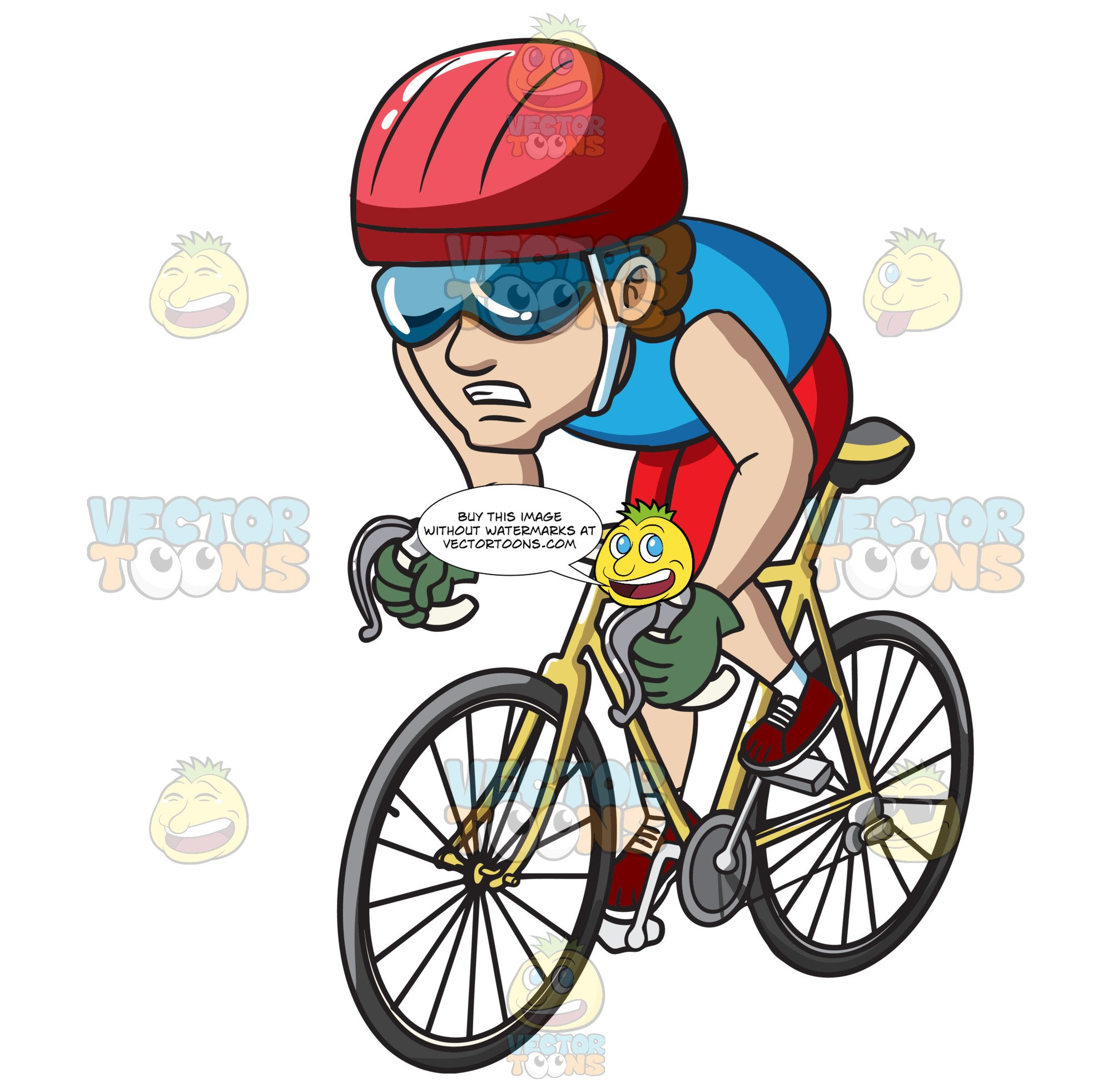 A in cycling competition. Cycle clipart man