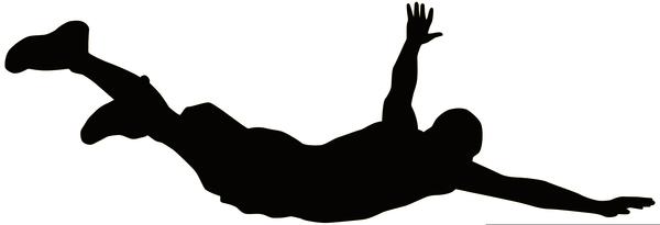 Man silhouette free images. Men clipart diving
