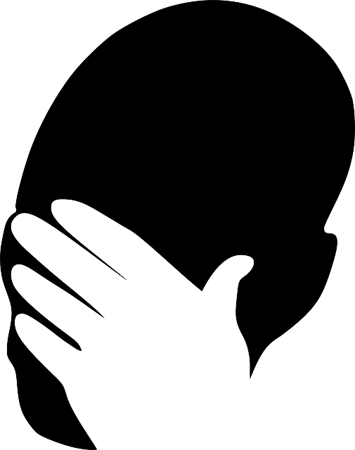 Sad man silhouette at. Shy clipart ashamed