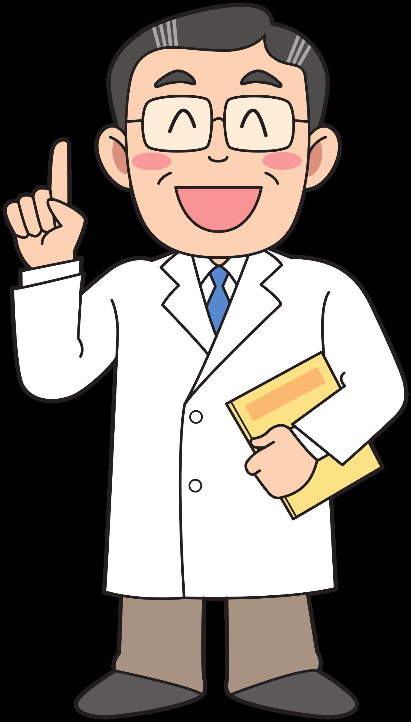 Medicine advise big image. Clipart man doctor
