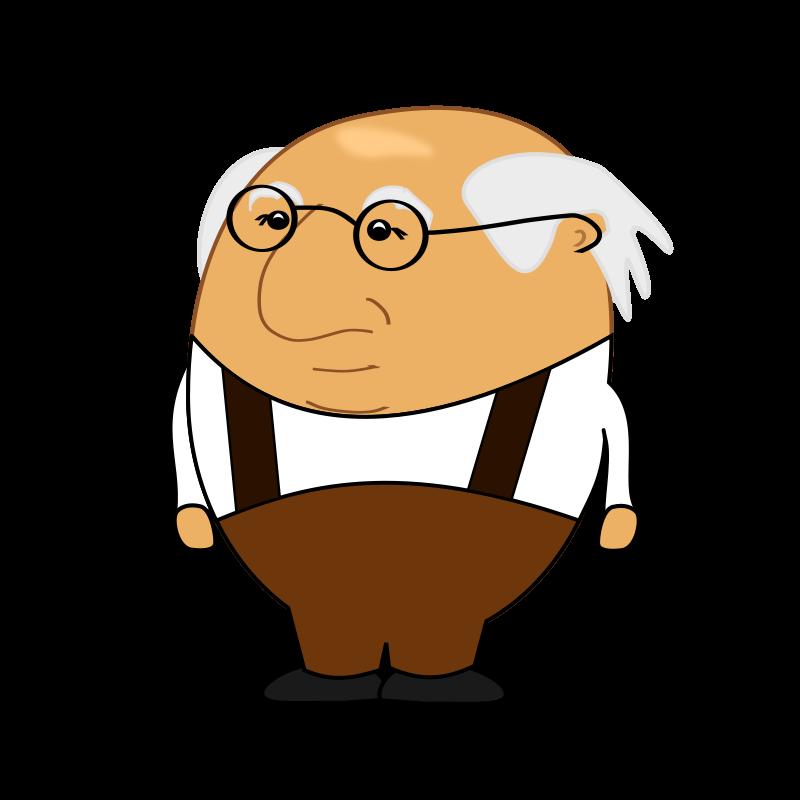 Old man medium image. Short clipart short person