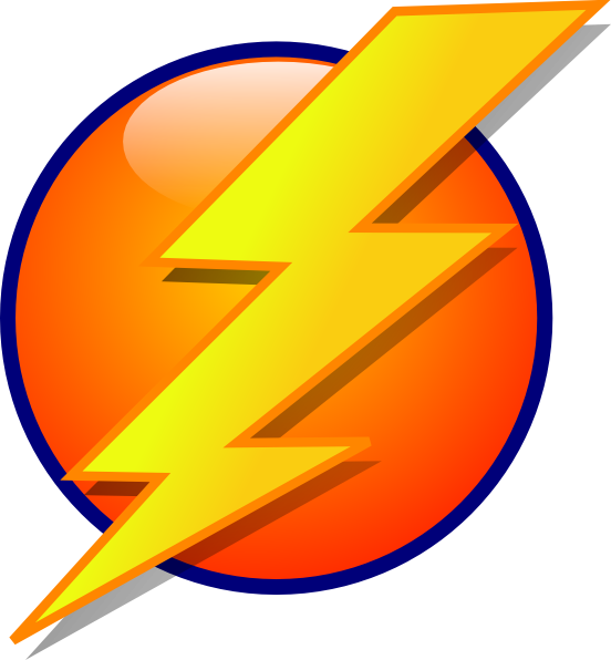 Lightning clipart comic book. Bolt logo cartoon clip