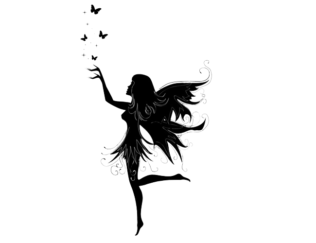 Fairies clipart shadow. Fairy silhouette png at