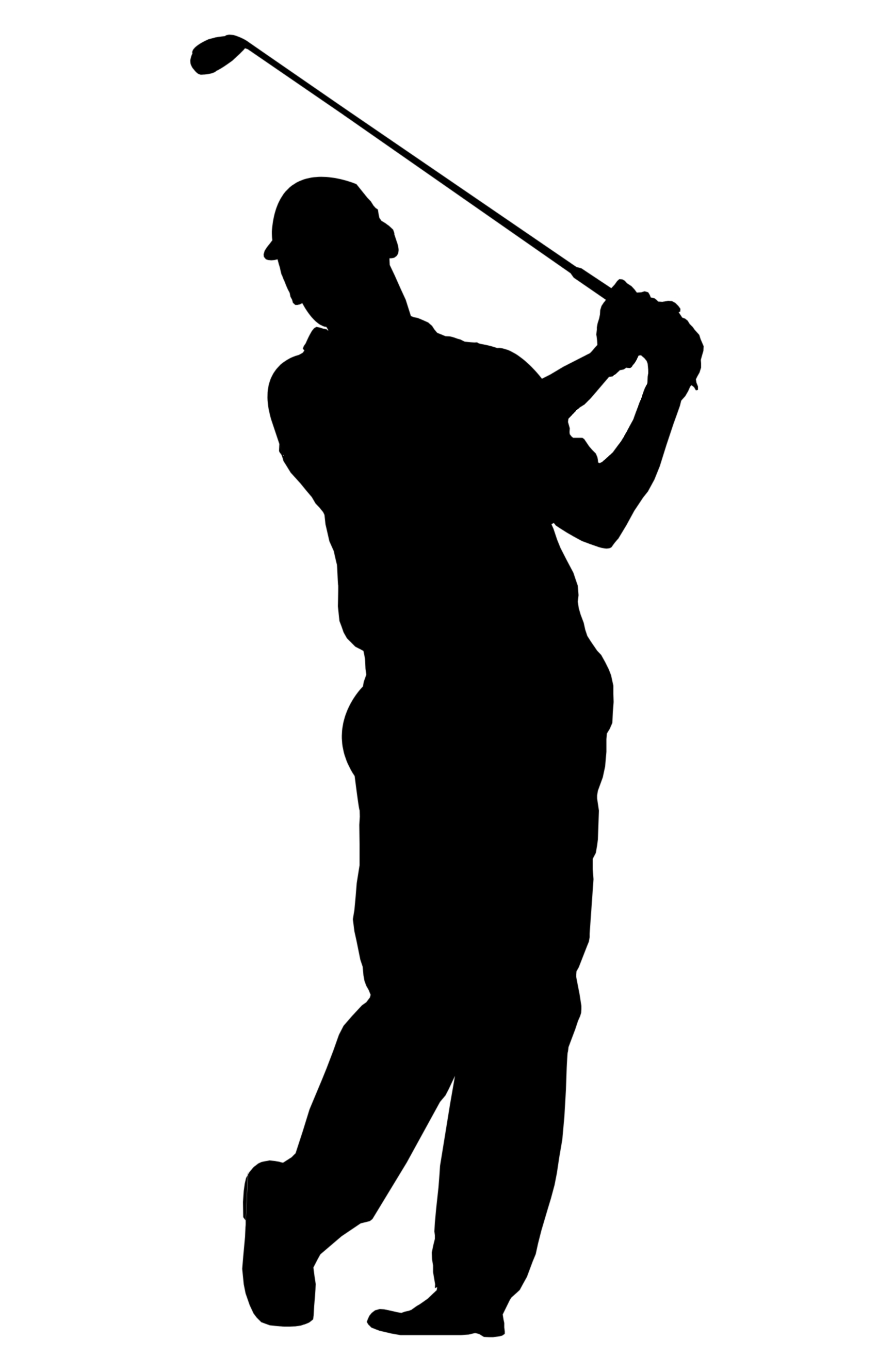 Free man cliparts download. Golfer clipart shadow