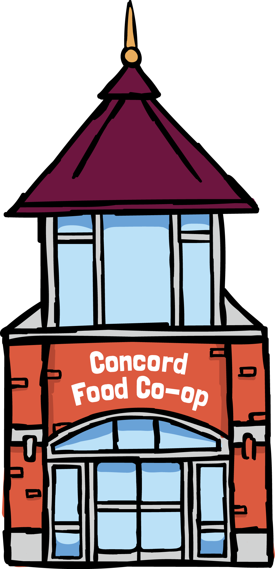About concord food co. Men clipart grocery shopping