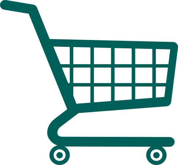 Shopping cart silhouette at. Mall clipart grocery