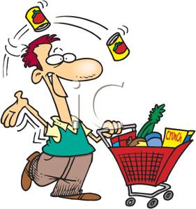 A enjoying shopping royalty. Grocery clipart man