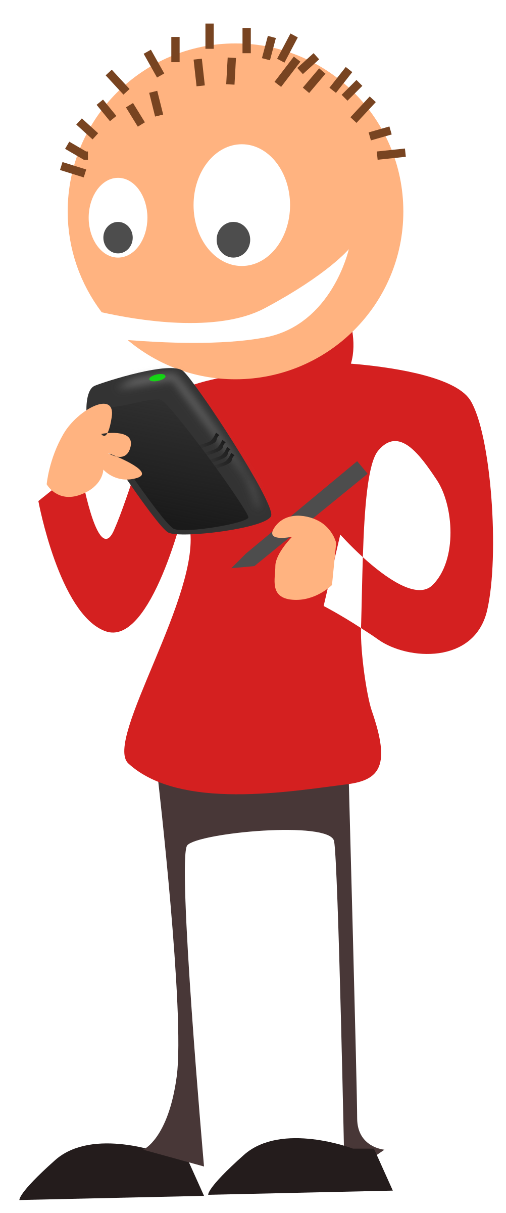 telephone clipart person #145570292