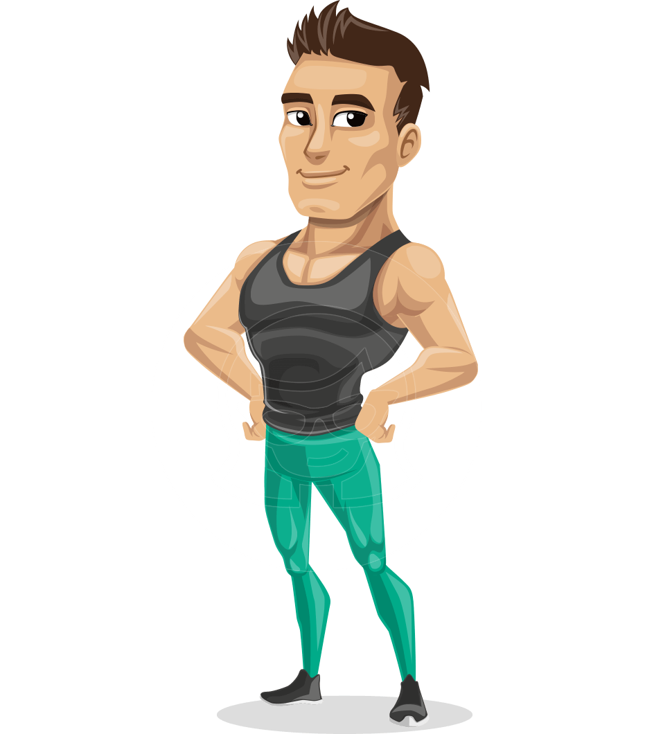 Jim is an athletic. Winter clipart fitness