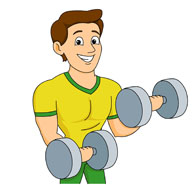 Free fitness man cliparts. Gym clipart gym guy