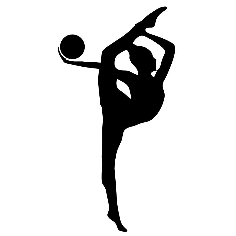 Words clipart gymnastics. Black and white panda
