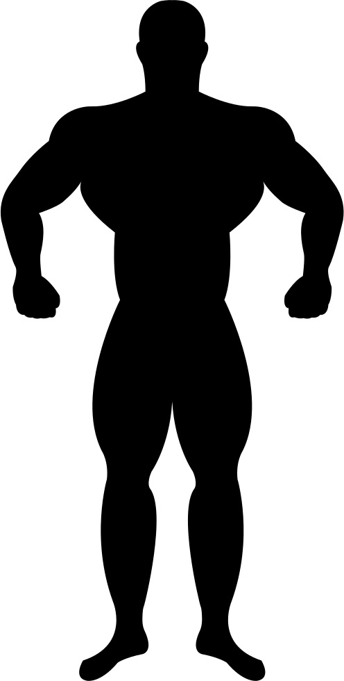 Male gymnast silhouette at. Muscles clipart masculine