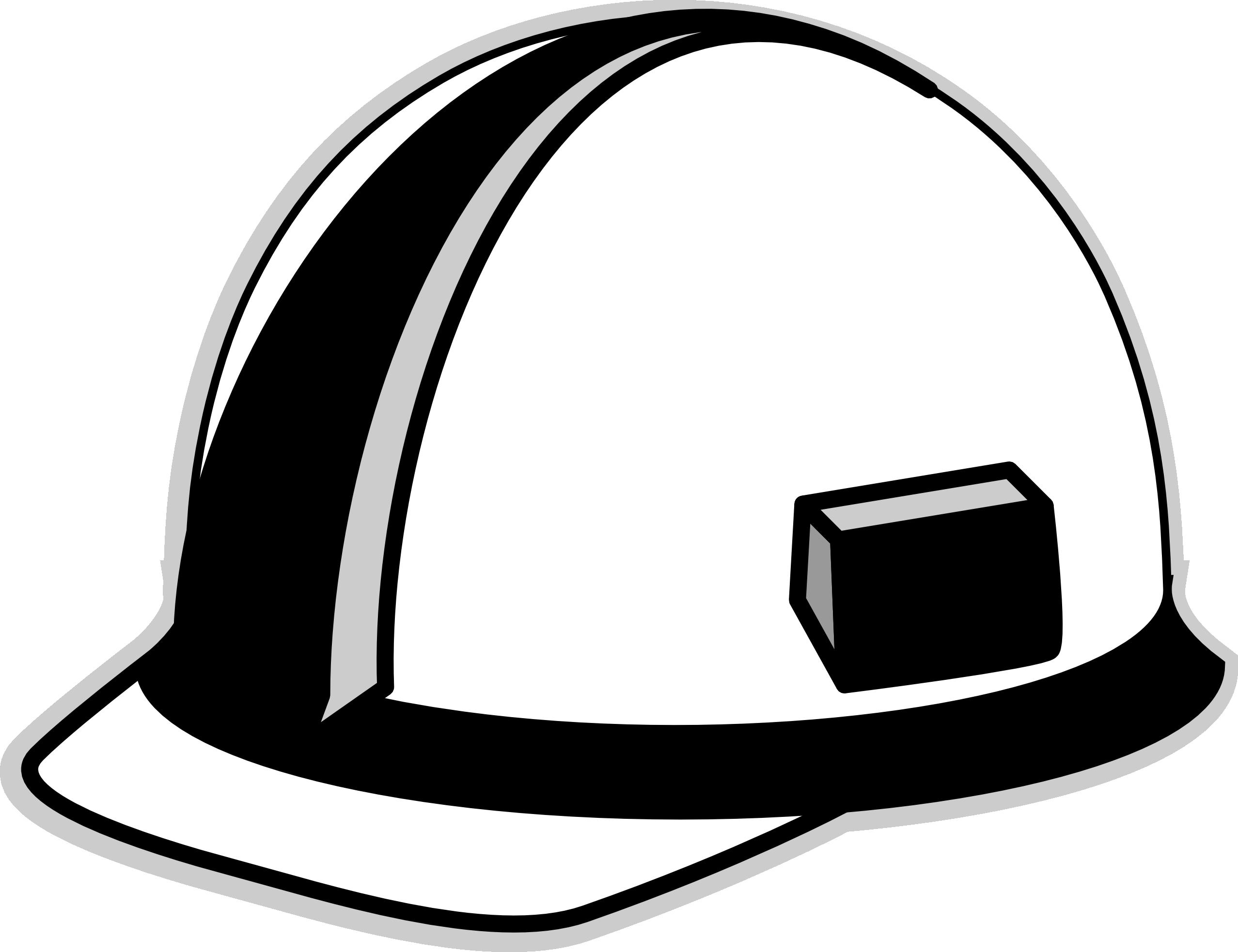 Hard hat art image. Engineering clipart hardhats