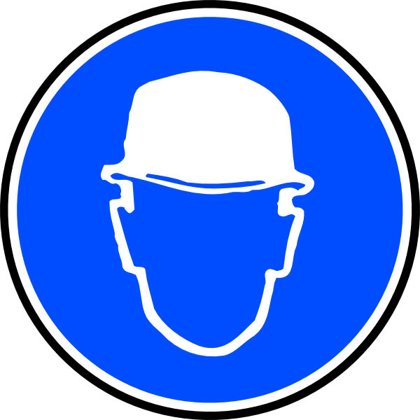 Man clipart hard hat. Mantatory over head clip