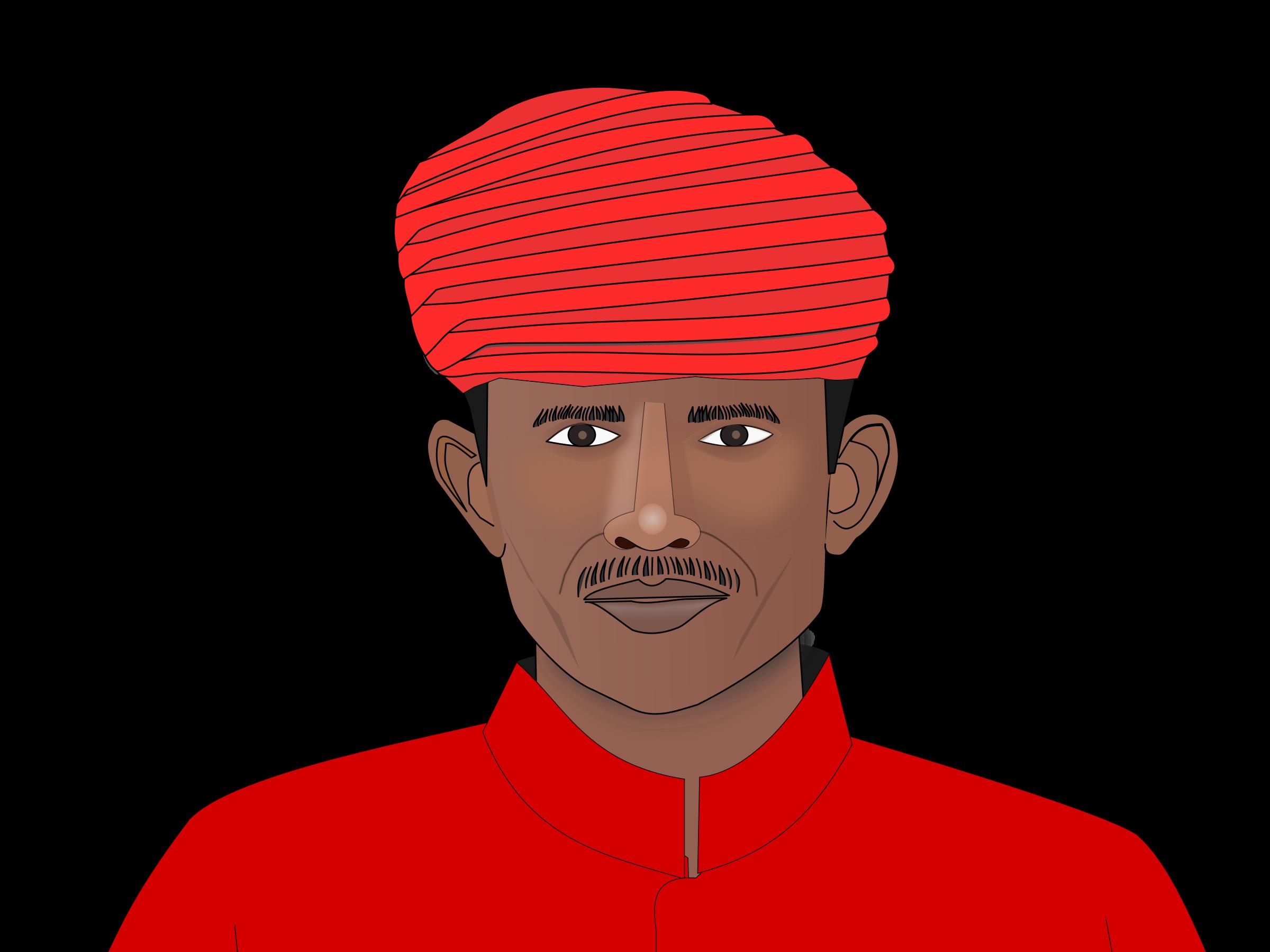 India clip art turban. Clipart man head