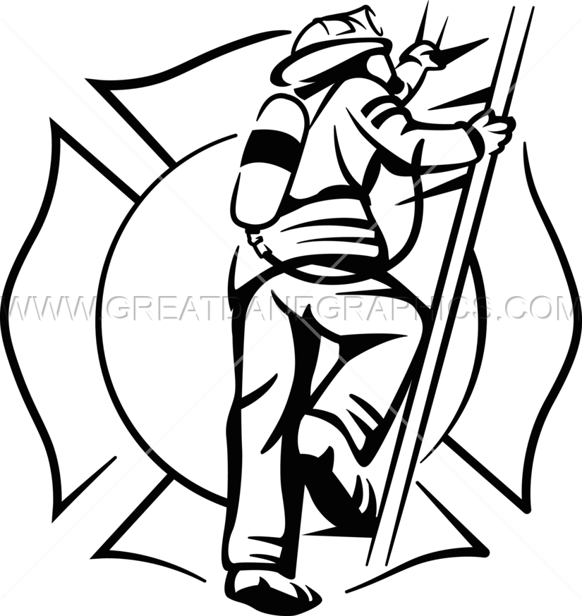 Firefighter clipart pike pole. Ladder png with fireman