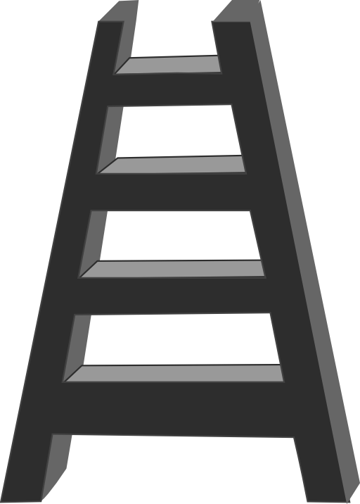Ladder i royalty free. Staircase clipart outline