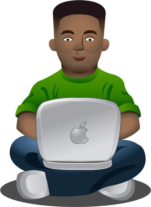 Clipartfort people using man. Laptop clipart technology