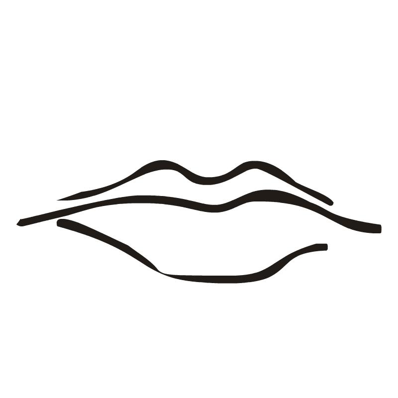 Men . Lips clipart realistic