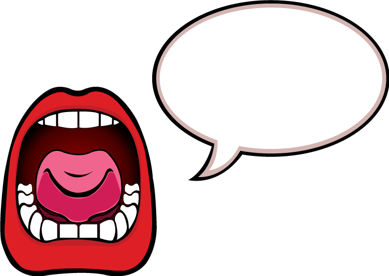 yelling clipart talking voice