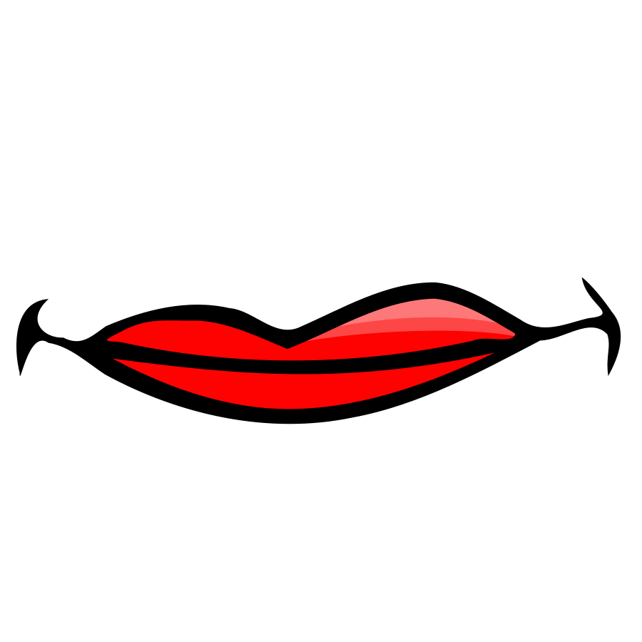 lip clipart male