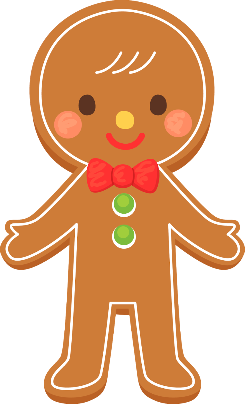 Guy clipart animated. Gingerbread man cookie clip