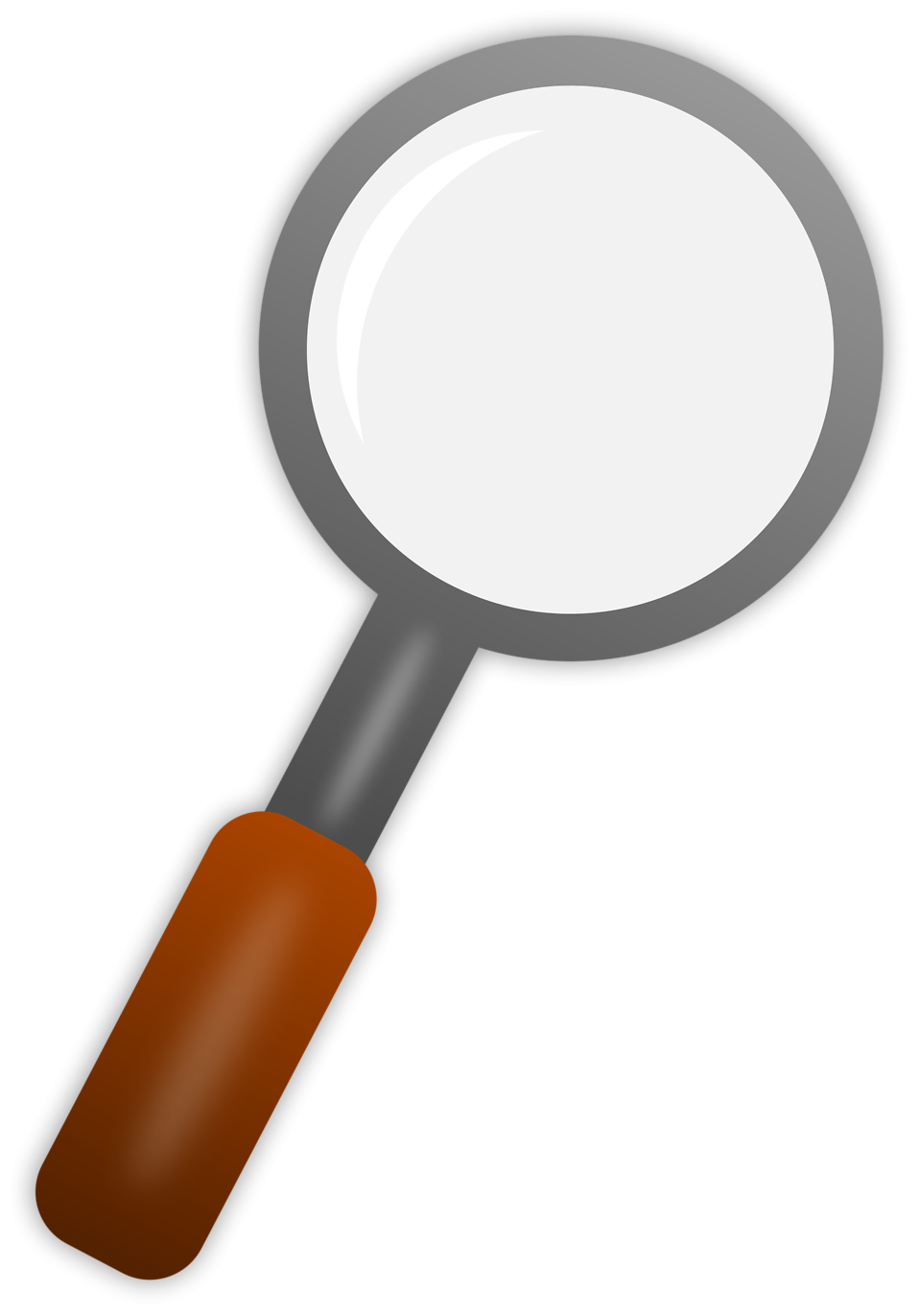 People clipart magnifying glass. Free stock photo illustration