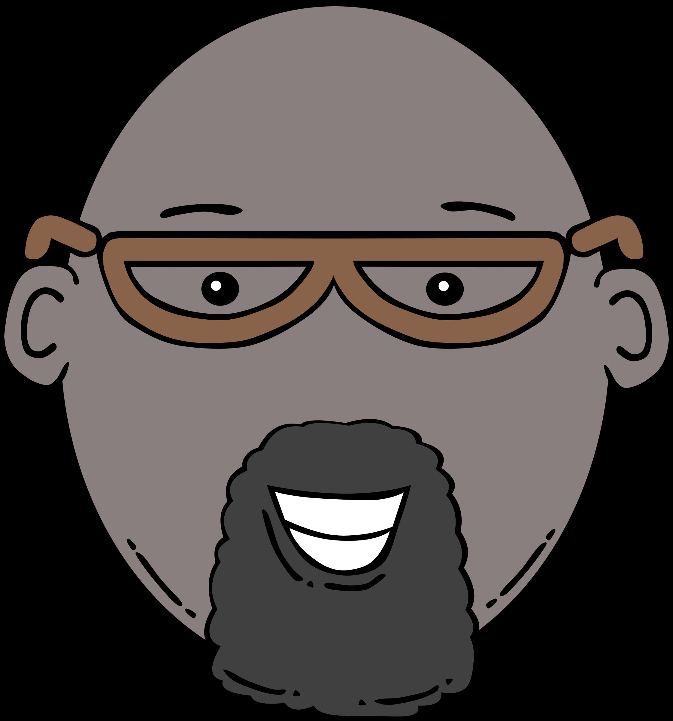 Clipart mouth male. Man face cartoon big