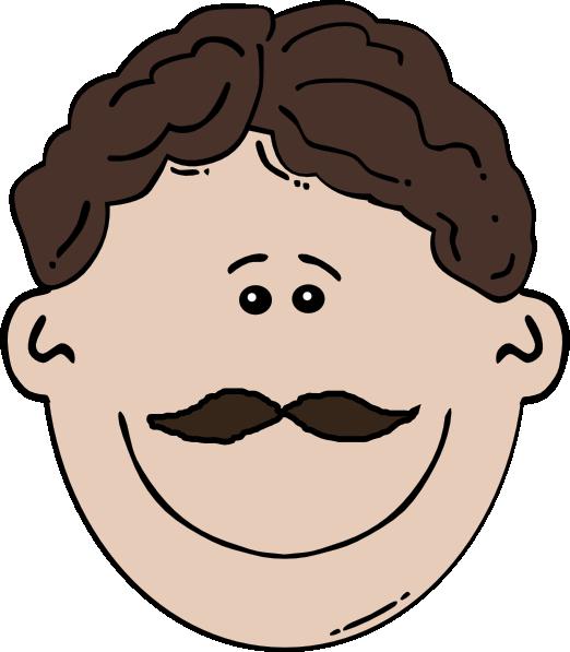 Moustache clipart vector. Smiling mustache man clip
