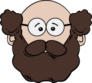 Balding man with and. Mustache clipart old