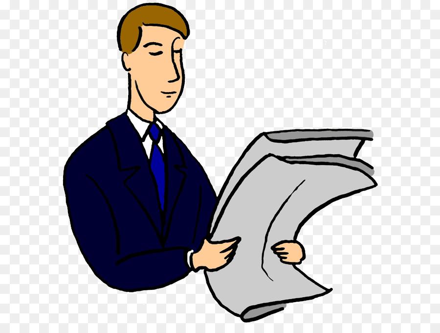 Cartoon newspaper transparent clip. News clipart man