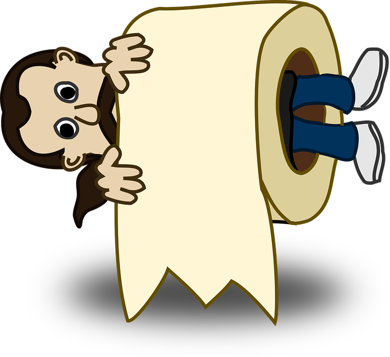 Collection of toilet paper. Clipart man newspaper