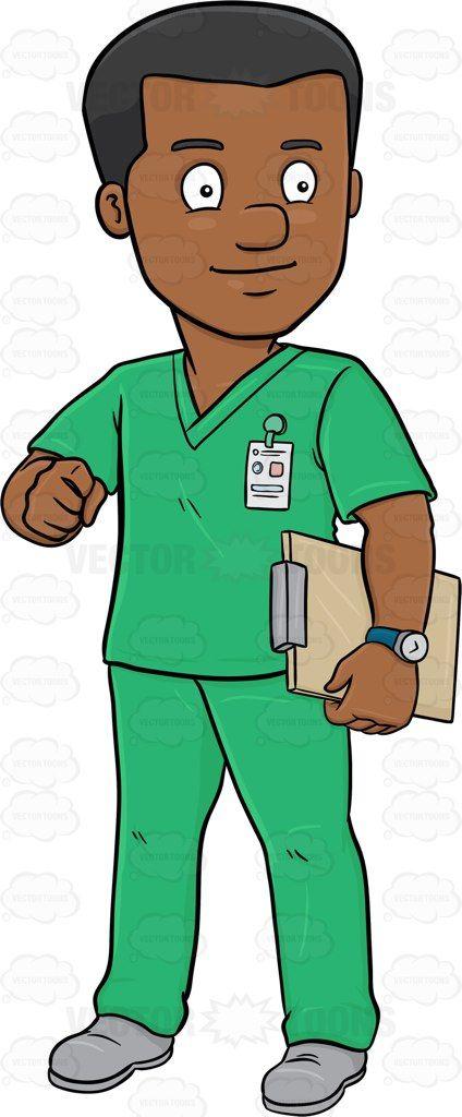 Men clipart nurse. A dark haired male