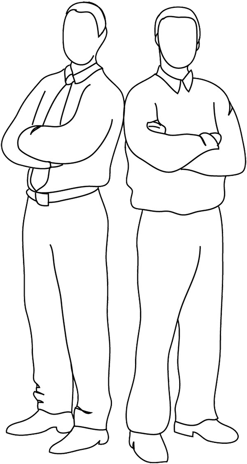 People clipart back. Human two person pencil