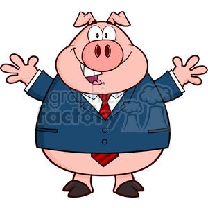 Clipart pig man. Royalty free rf illustration