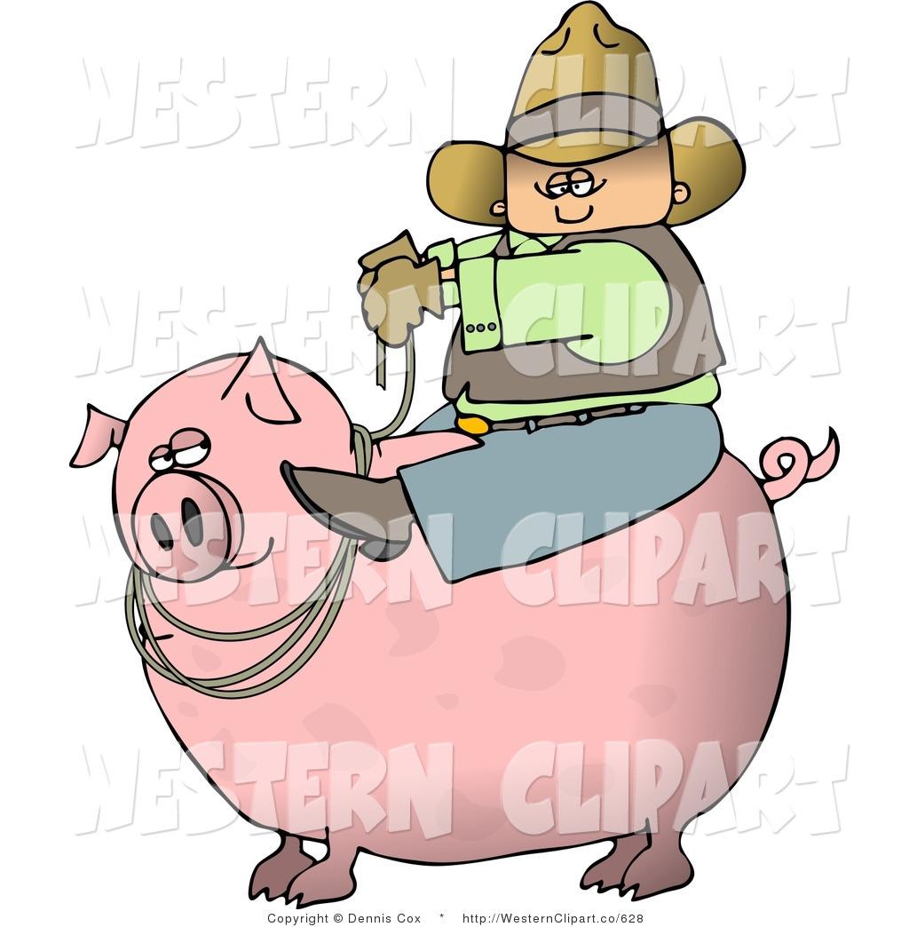 Clipart pig man. Western clip art of