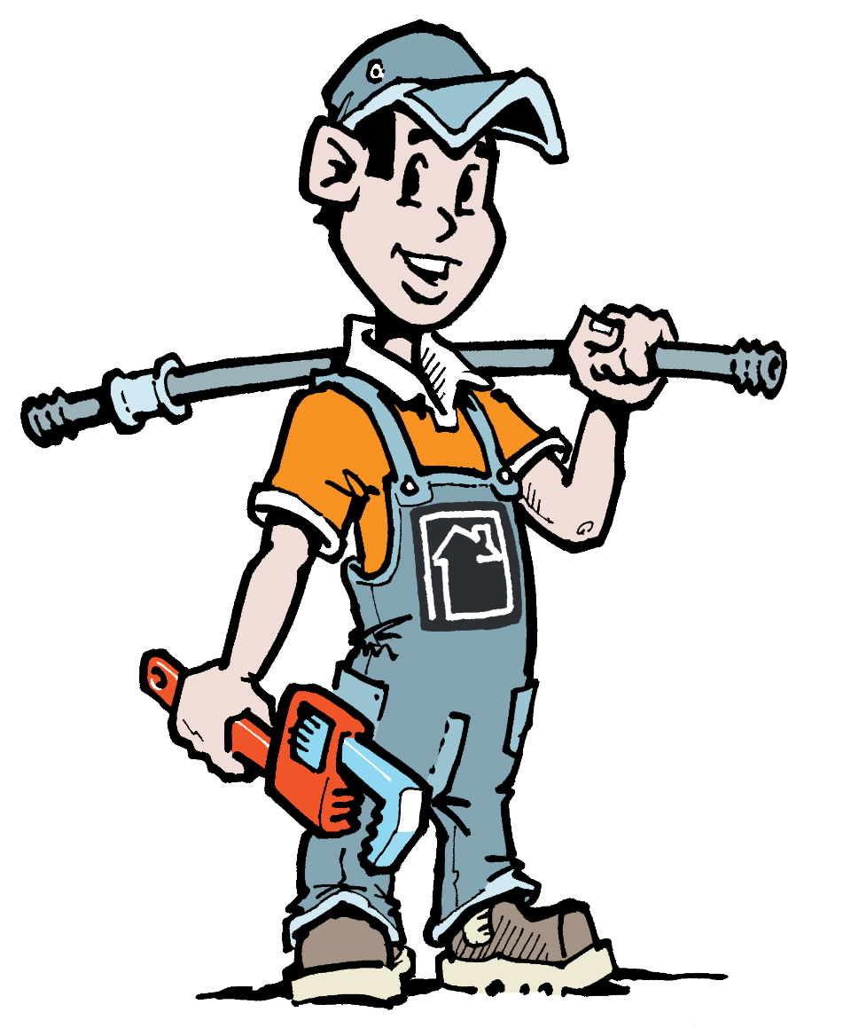 Man plumbing pencil and. Mechanic clipart lady
