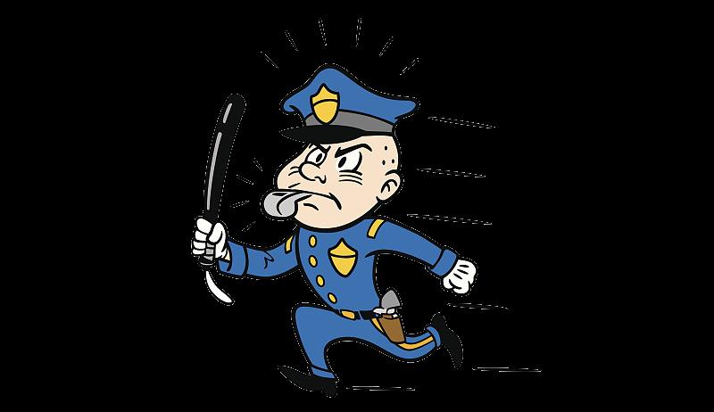Police officer baton clip. Cop clipart policman