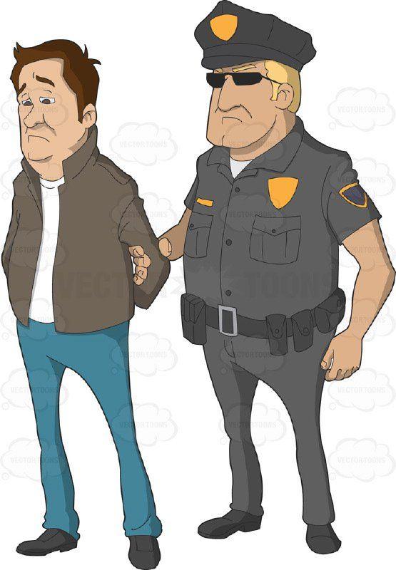 Crime clipart detained. Arrest clip art man