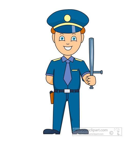 man clip art. Policeman clipart police baton