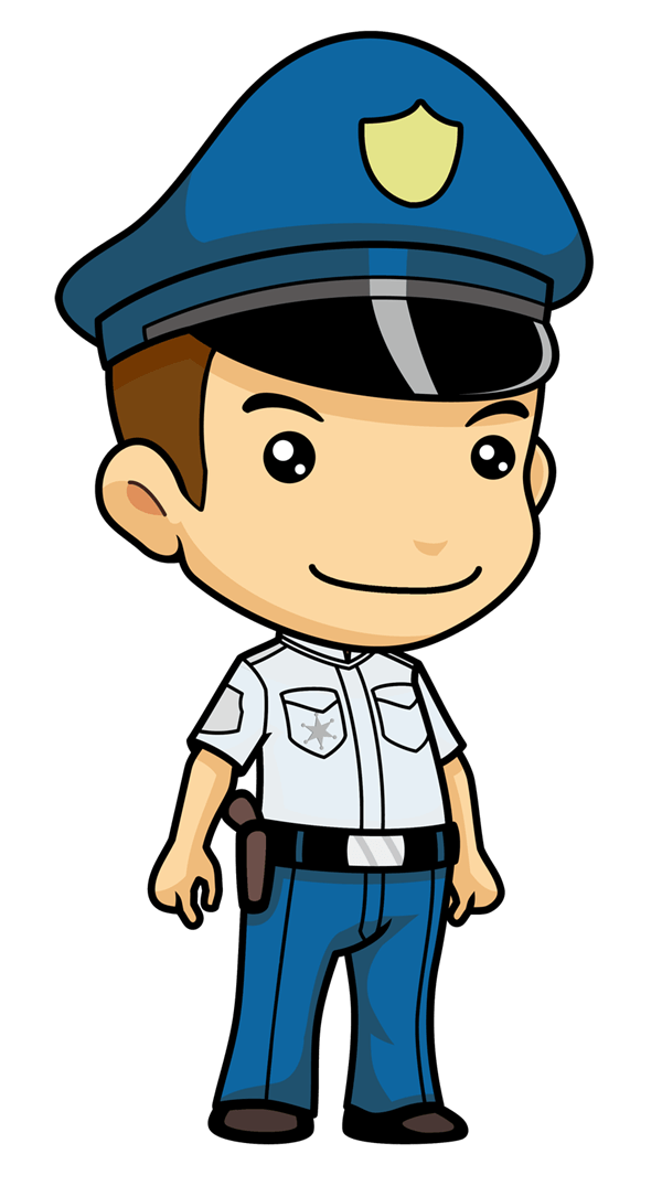 Clipart man police officer.  collection of transparent