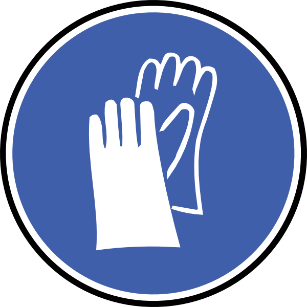 Ppe pictogram . Hand clipart safety