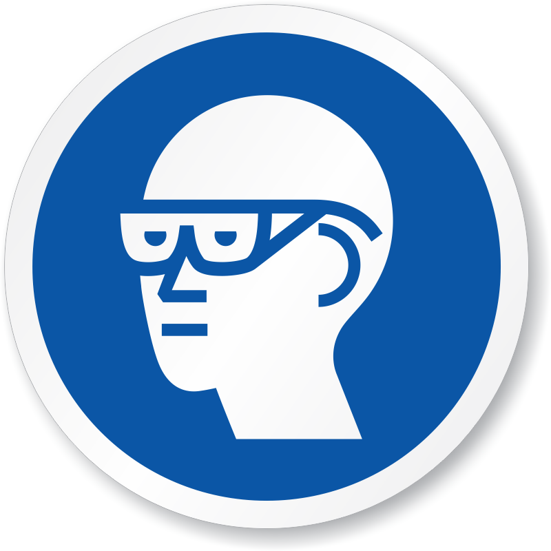 Goggles clipart ppe. Wear eye protection signs