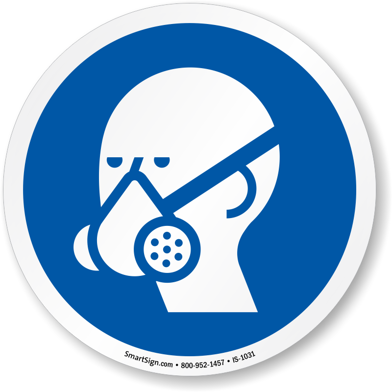 Respirator signs respirators required. Medical clipart ppe