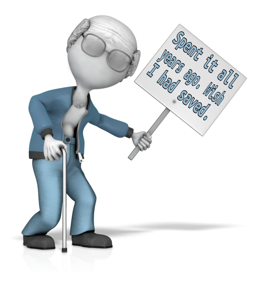 Clipart man presentation. Stealing from your future