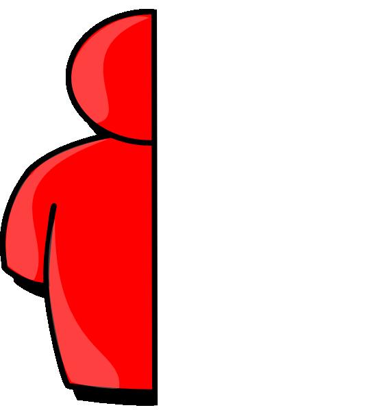 Half red clip art. Showering clipart man